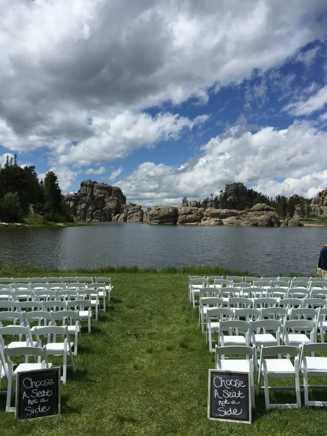 Wedding at Sylvan Lake