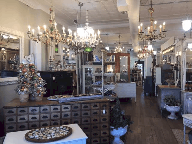 Top 10 Best Boutiques in Grand Rapids featured by top MI lifestyle blog, The House of Navy: Blue Door Antiques