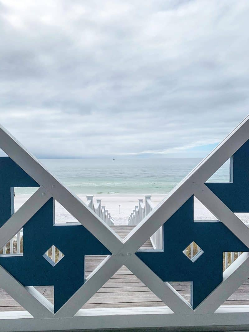 The Ultimate 30A Travel Guide for Families featured by top US travel blog, House of Navy: image of florida beach view from stairs