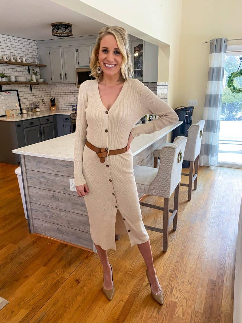 Allume Style Service Review + Promo Code featured by top MI life and style blogger, The House of Navy: image of fashion blogger in work outfit