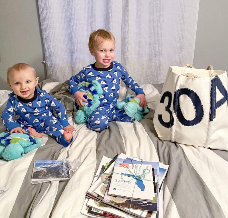 baby brothers in pajamas