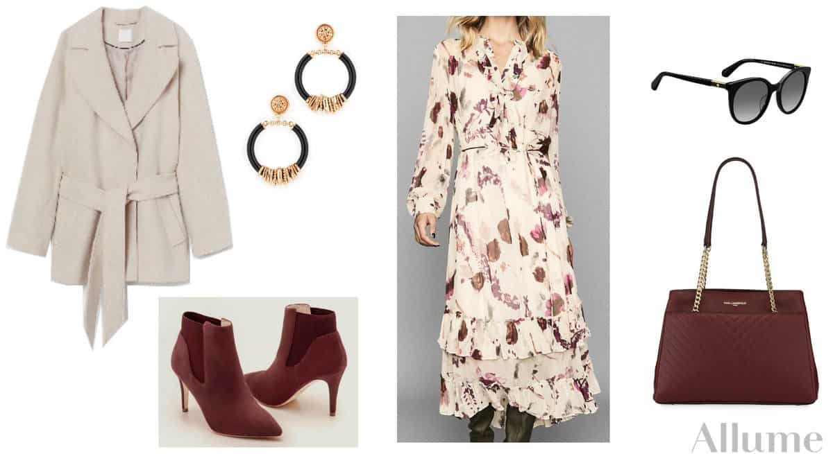 Allume Style Service Review + Promo Code featured by top MI life and style blogger, The House of Navy: image of collage of woman's dress outfit