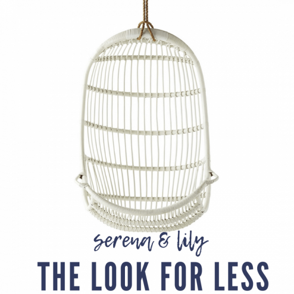 Serena & Lily Dupes featured by top MI lifestyle blogger, House of Navy: serena and lily hanging rattan chair