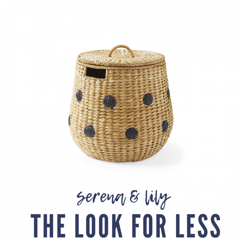 Serena & Lily Dupes featured by top MI lifestyle blogger, House of Navy: serena and lily woven storage basket
