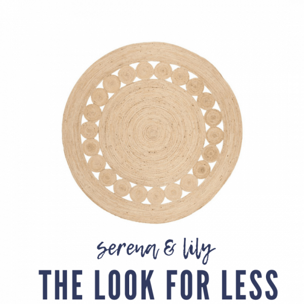 Serena & Lily Dupes featured by top MI lifestyle blogger, House of Navy: serena and lily dupe round jute rug