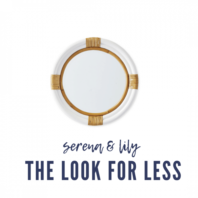 Serena & Lily Dupes featured by top MI lifestyle blogger, House of Navy: serena and lily wood and white mirror