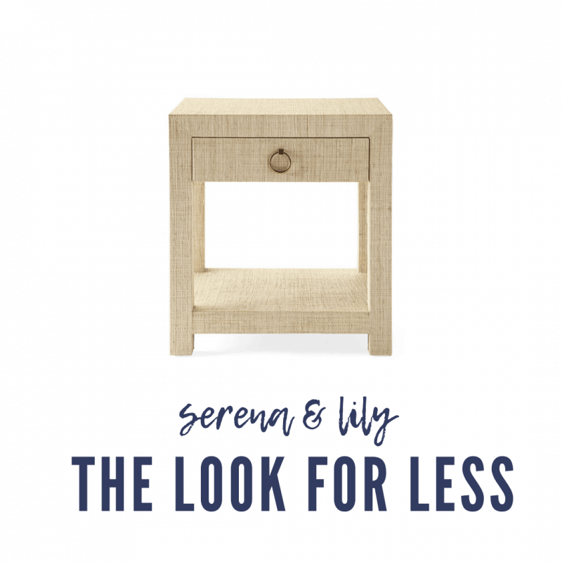 Serena & Lily Dupes featured by top MI lifestyle blogger, House of Navy: serena and lily blake nightstand