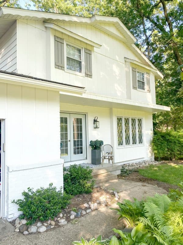3 Ways to Focus on Community with MSHDA's Neighborhood Enhancement Program featured by top MI lifestyle blogger, House of Navy: white house after painting