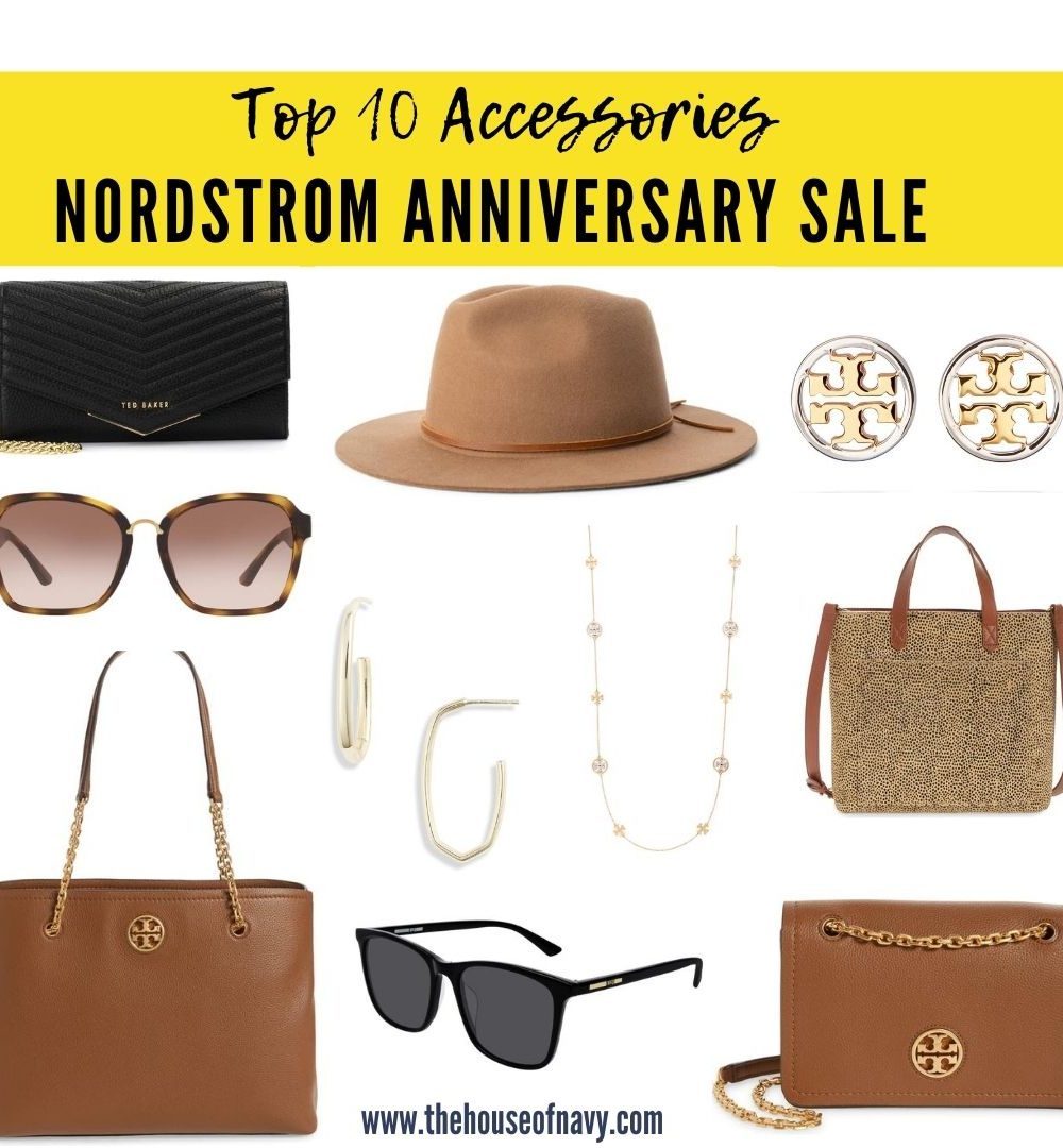Top 10 Accessories to Shop in the Nordstrom Anniversary Sale featured by top Detroit life and style blogger, House of Navy: collage of accessories from nordstrom