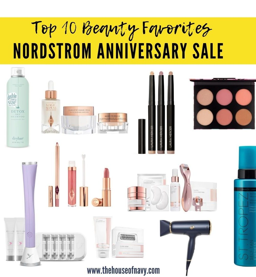 collage of beauty products from nordstrom