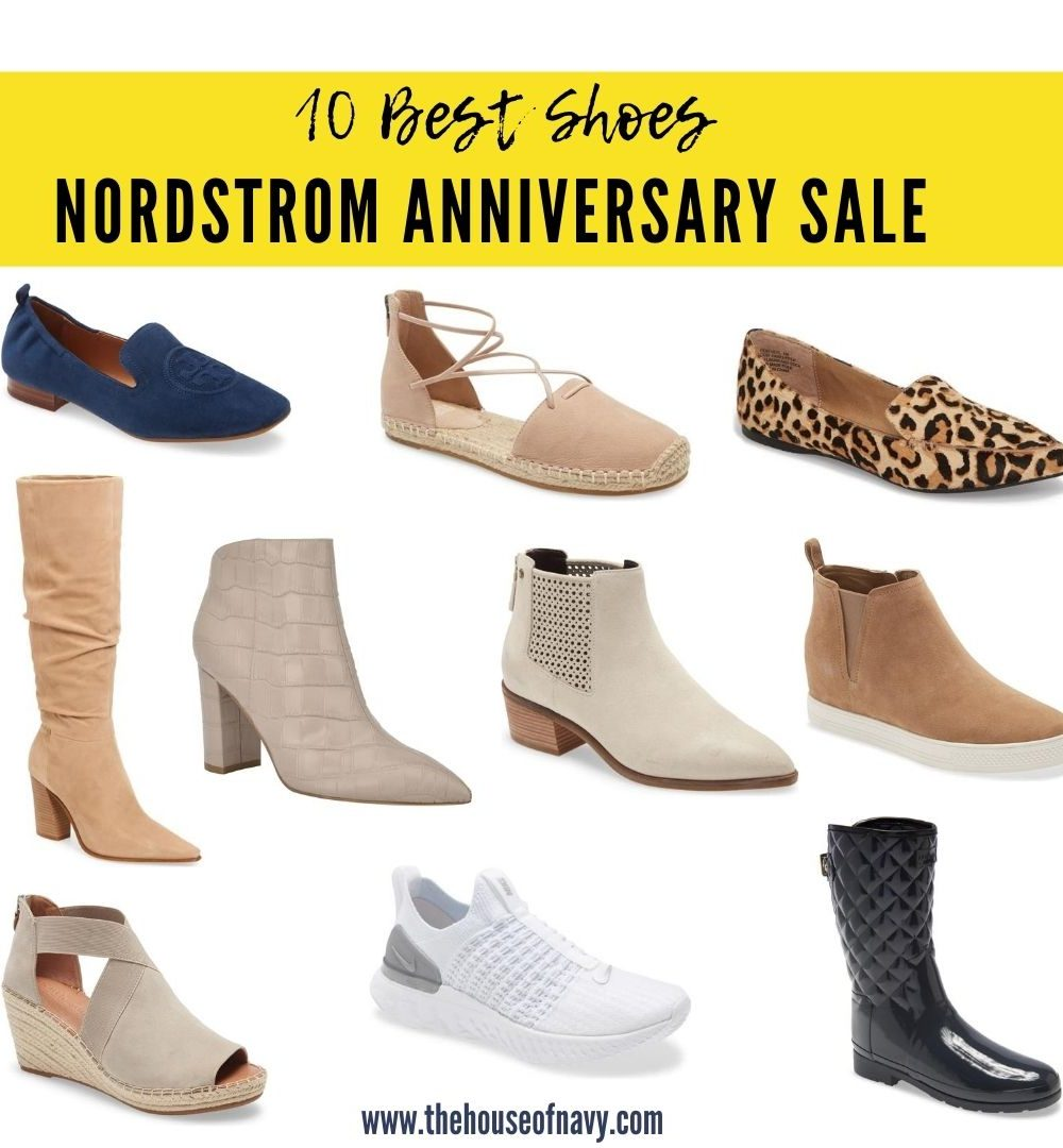 Nordstrom Anniversary Sale: Top 10 shoes for women featured by top Detroit fashion blogger, House of Navy: shoe collage from the nordstrom anniversary sale