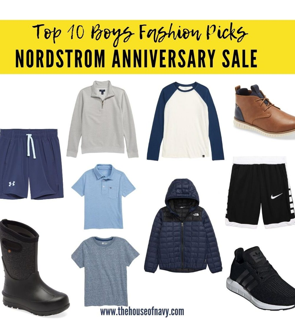 Nordstrom Anniversary Sale top picks featured by top Detroit life and style blogger, House of Navy: collage of little boys fashion from nordstrom