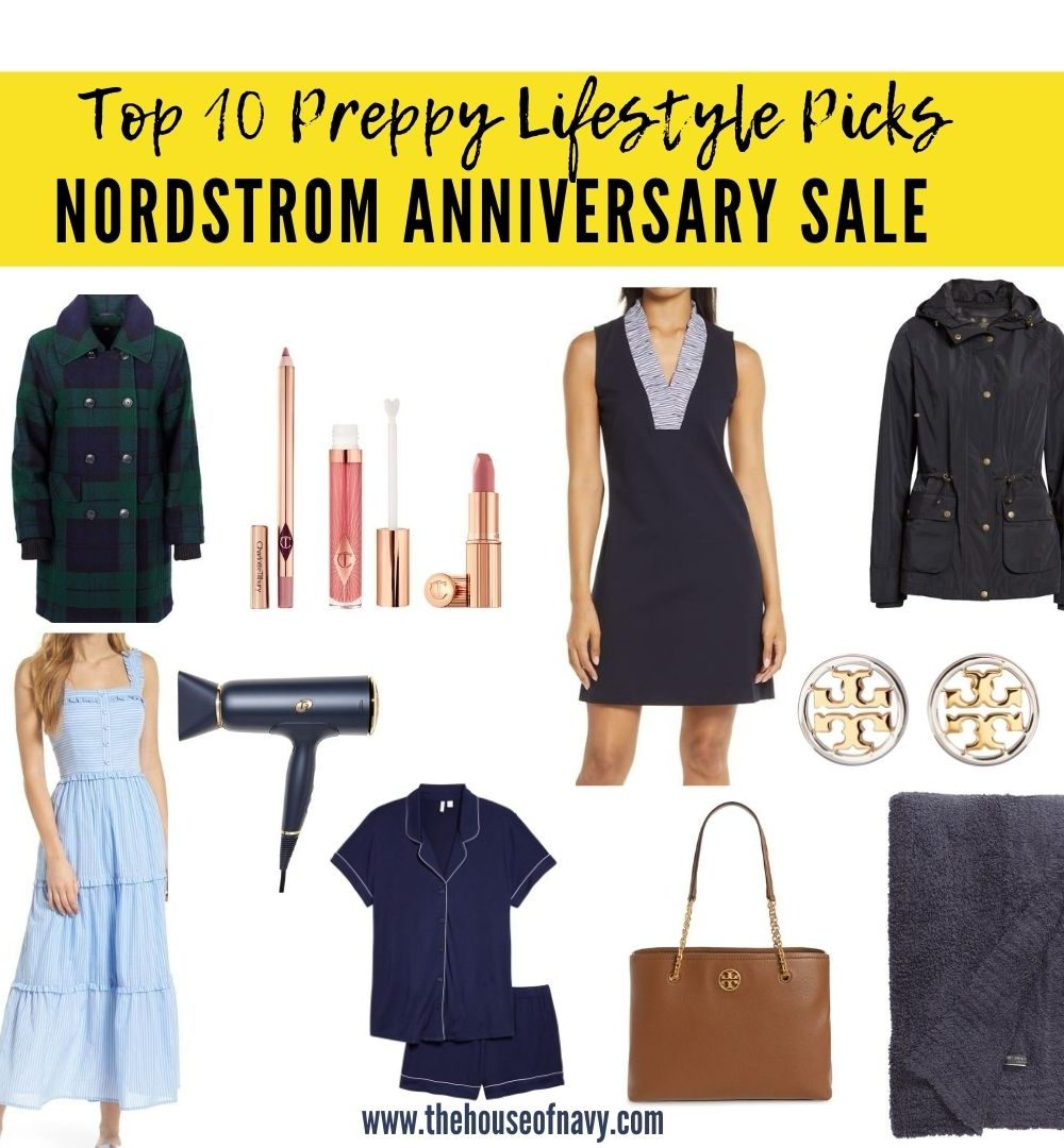 collage of preppy picks from the nordstrom sale