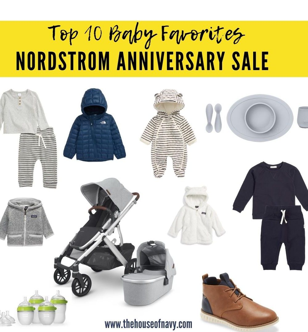 Nordstrom Anniversary Sale: Best Buys for Baby featured by top Detroit life and style blogger, House of Navy: collage of baby registry must haves
