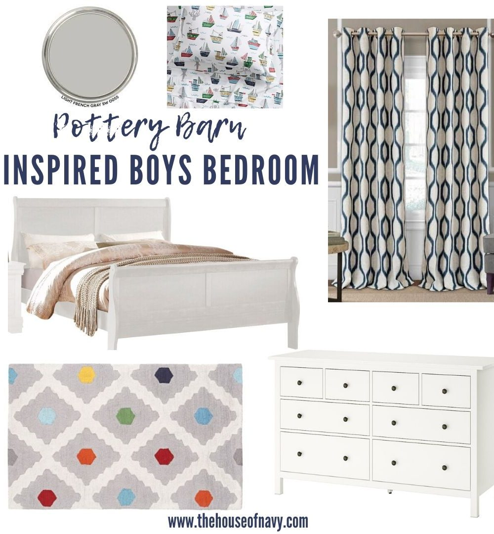 Image of: Cute Pottery Barn Boys Bedroom Ideas House Of Navy