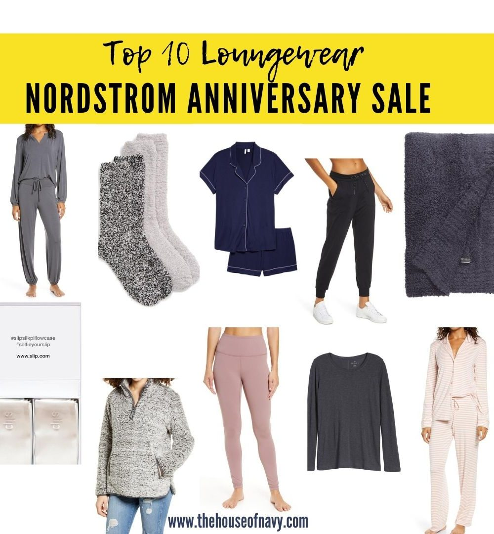 Nordstrom Anniversary Sale: Top 10 Loungewear Picks featured by top Detroit fashion blogger, House of Navy