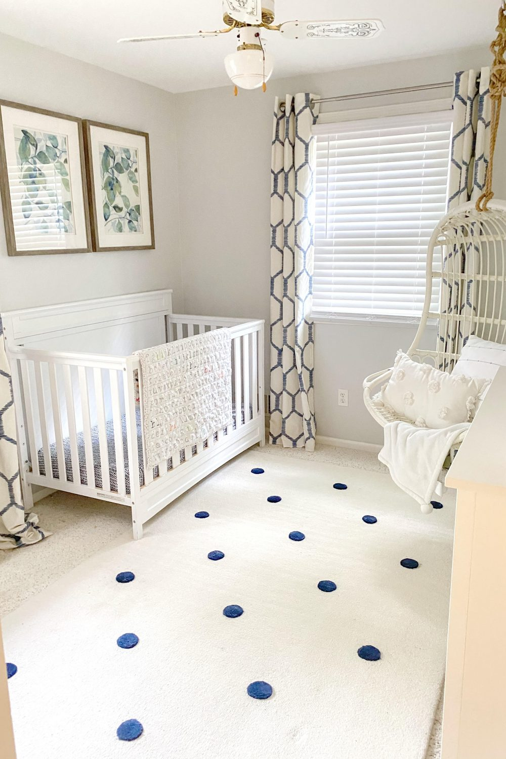 baby crib in nursery