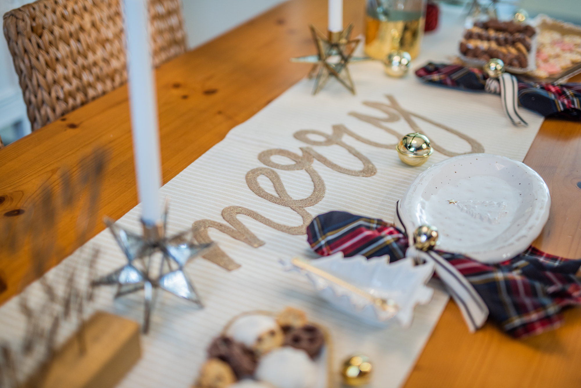 photo of holiday Merry tablecloth from Mud Pie