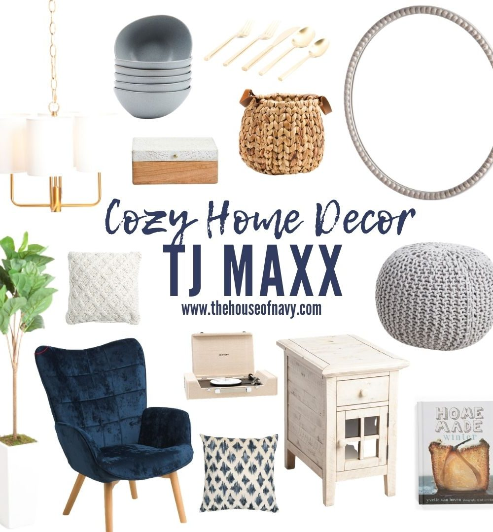 collage of home decor accents from TJ Maxx