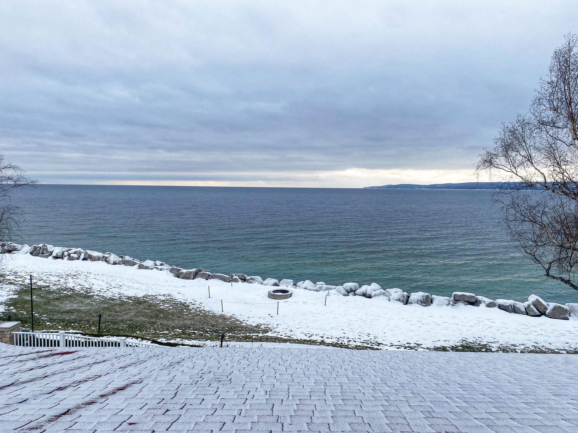 winter sunrise over lake michigan |Inn at Bay Harbor by popular Michigan travel blog, The House of Navy: image of Bay Harbor in Michigan.