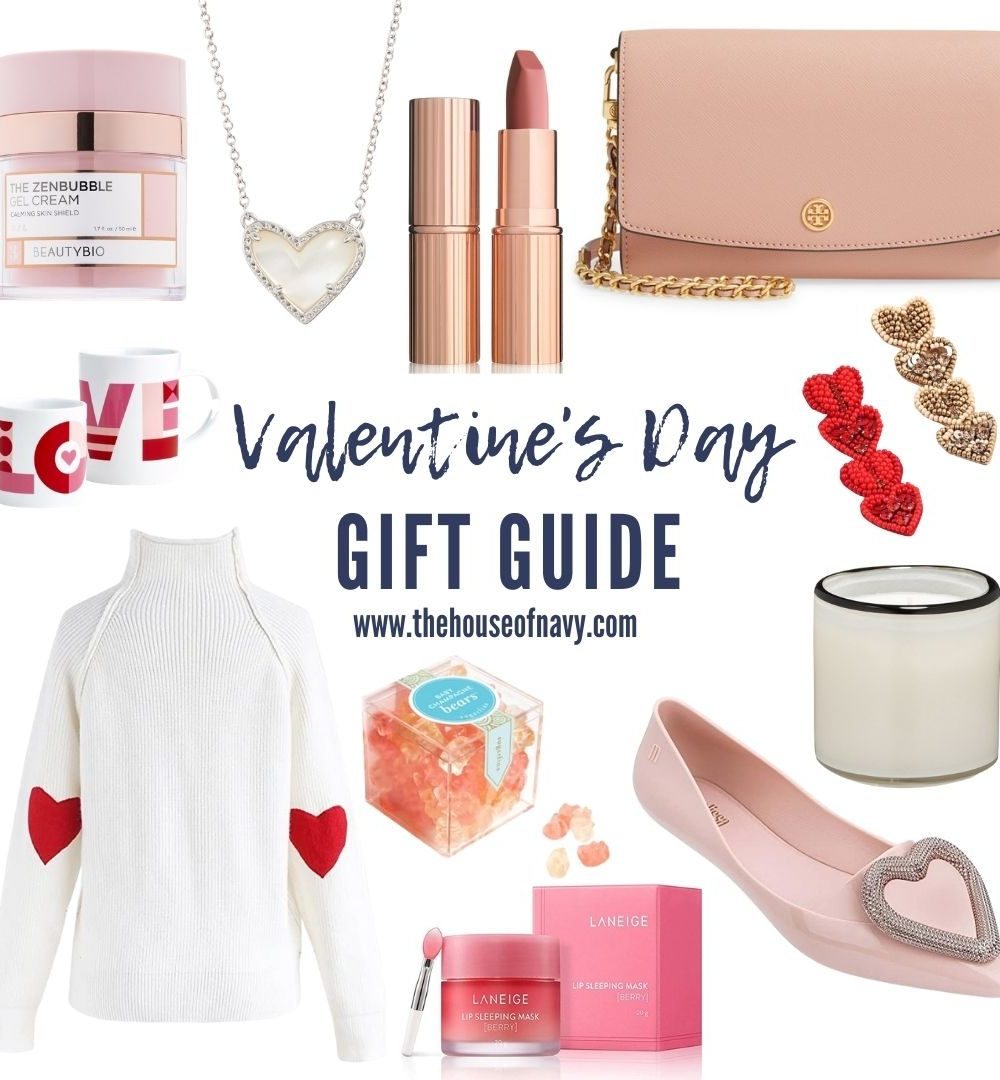 collage of valentine's day inspired gifts for women