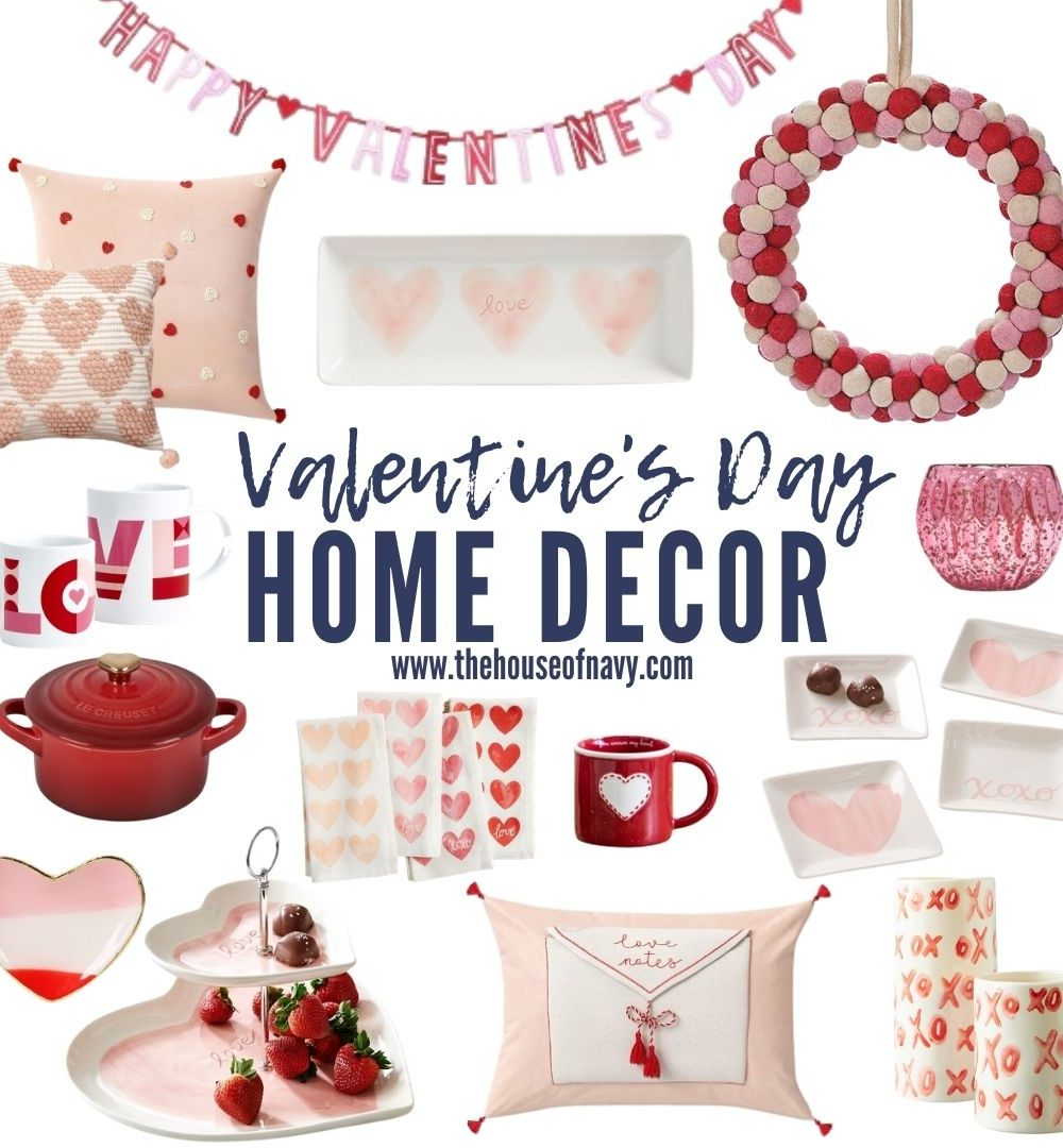 collage of valentine's day home decor